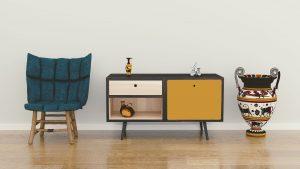 Mueble personalizado con latón